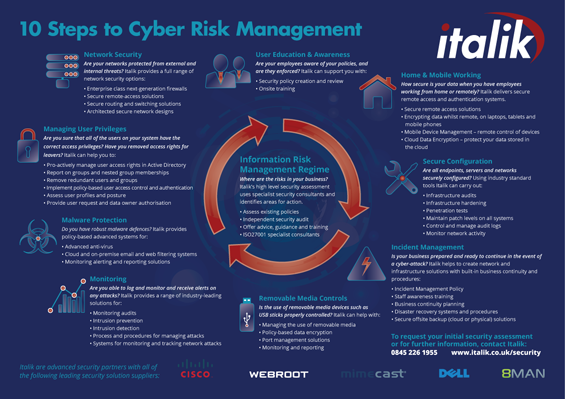 Italik's 10 Steps to Cyber Security