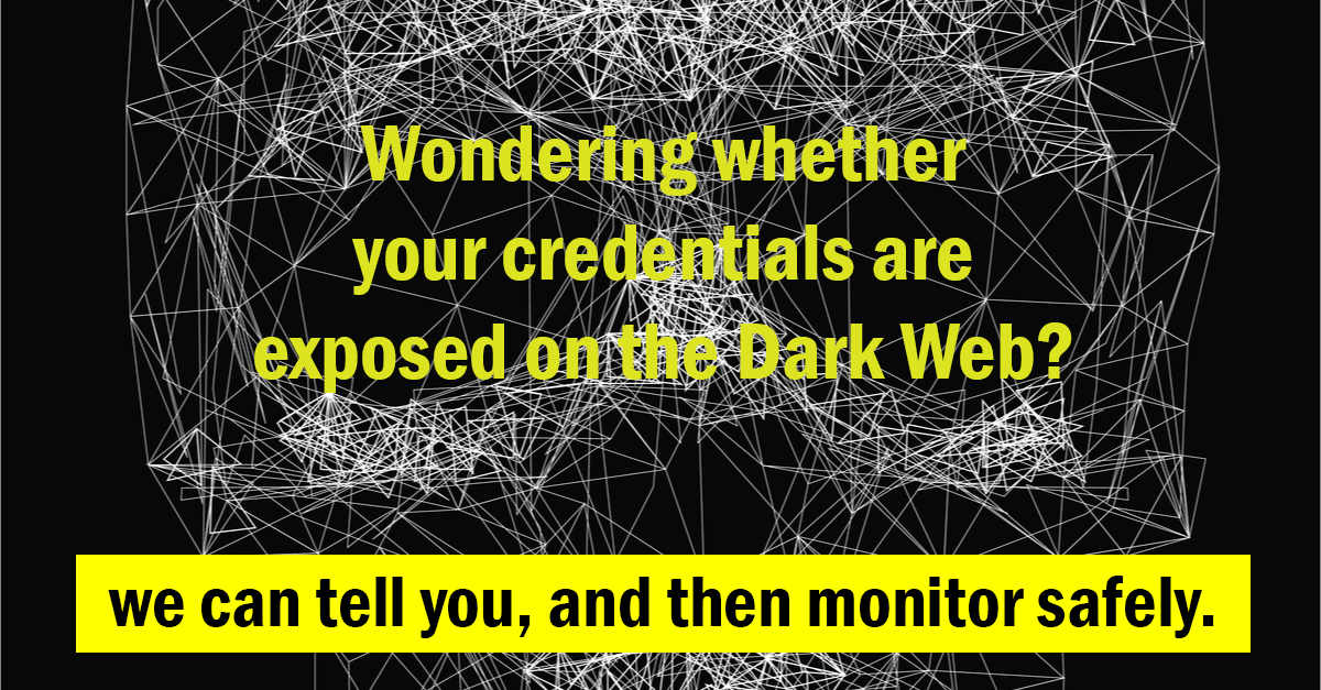dark web monitoring service